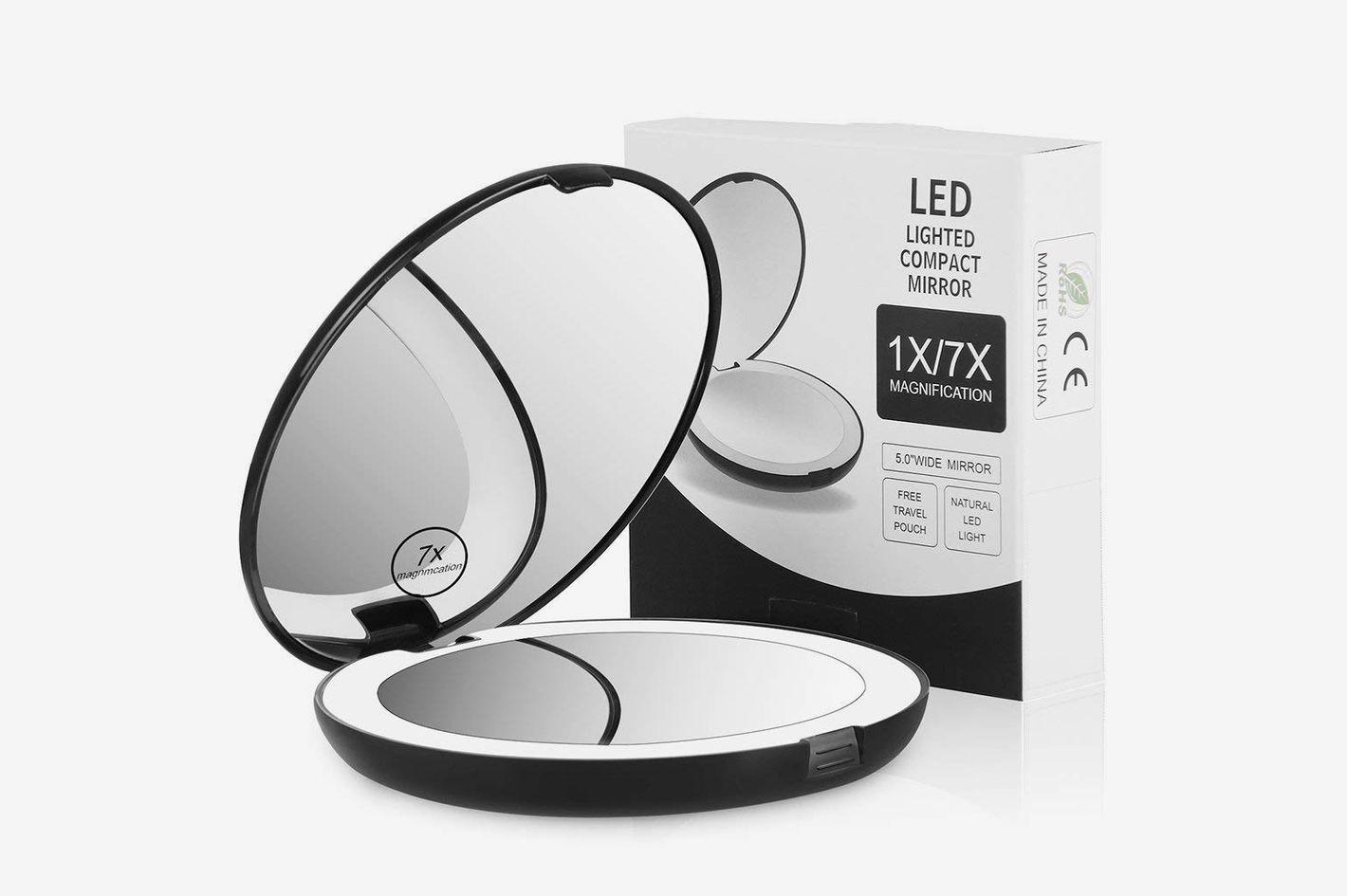 11 best vanity makeup mirrors lights 2018 terresa lighted travel makeup mirror aloadofball Gallery