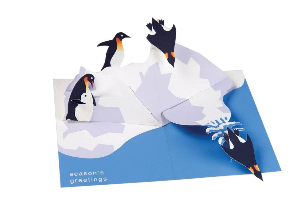 Robert Sabuda Penguins Boxed Holiday Pop Up Cards