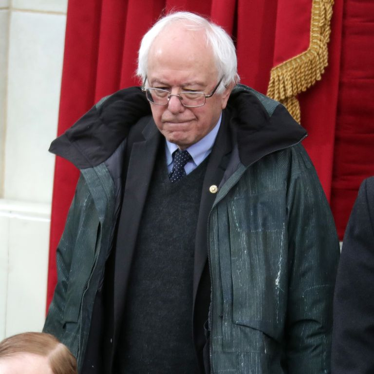 0c06764f Bernie Sanders Wore the Only Appropriate Outfit to Trump's InaugurationTrès  chic, Bernard.