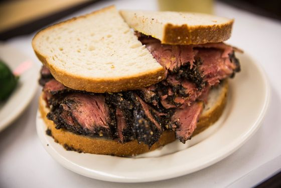 Pastrami on rye at Katz's, a paragon of the form.