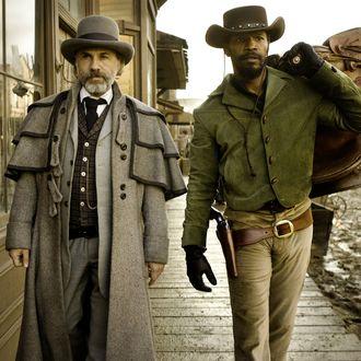 Schultz (Christoph Waltz) and Django (Jamie Foxx)