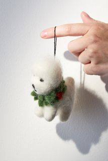 Urban Outfitters Bichon Frise Christmas Ornament