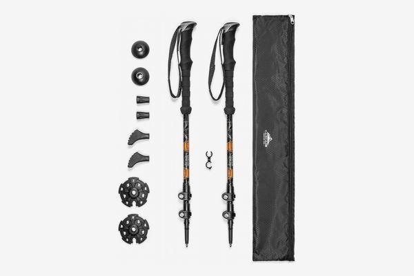 Cascade Mountain Tech Aluminum Adjustable Trekking Poles 2 Pack