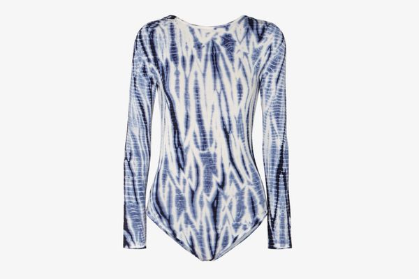 Ninety Percent + NET SUSTAIN Open-Back Tie-Dyed Tencel Bodysuit