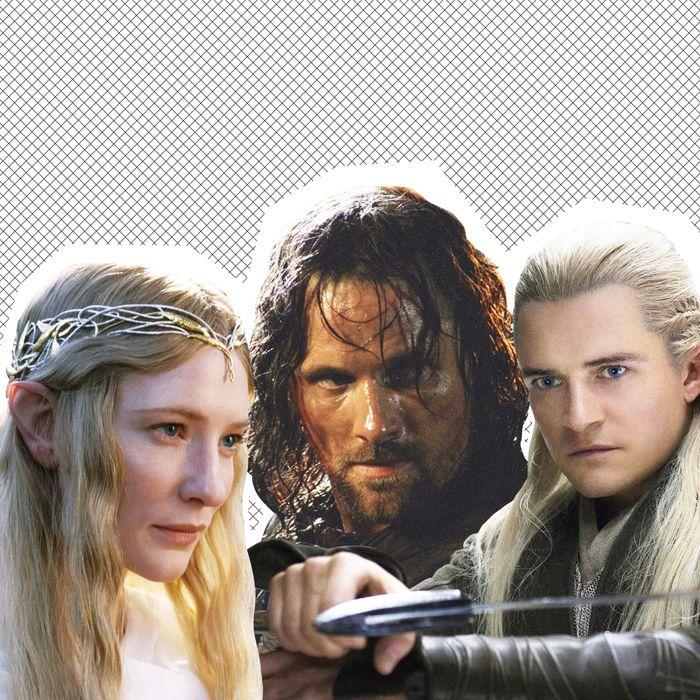 Galadriel, Aragorn, and Legolas.