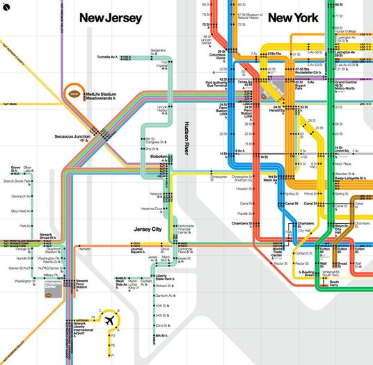 New Subway Map For Super Bowl Tourists Includes Only Touristy Parts Of Manhattan And New Jersey