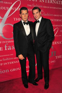 Stefano Tonchi (L) and David Maupin attend the 27th annual Night of Stars at Cipriani, Wall Street on October 28, 2010 in New York City. *** Local Caption ***