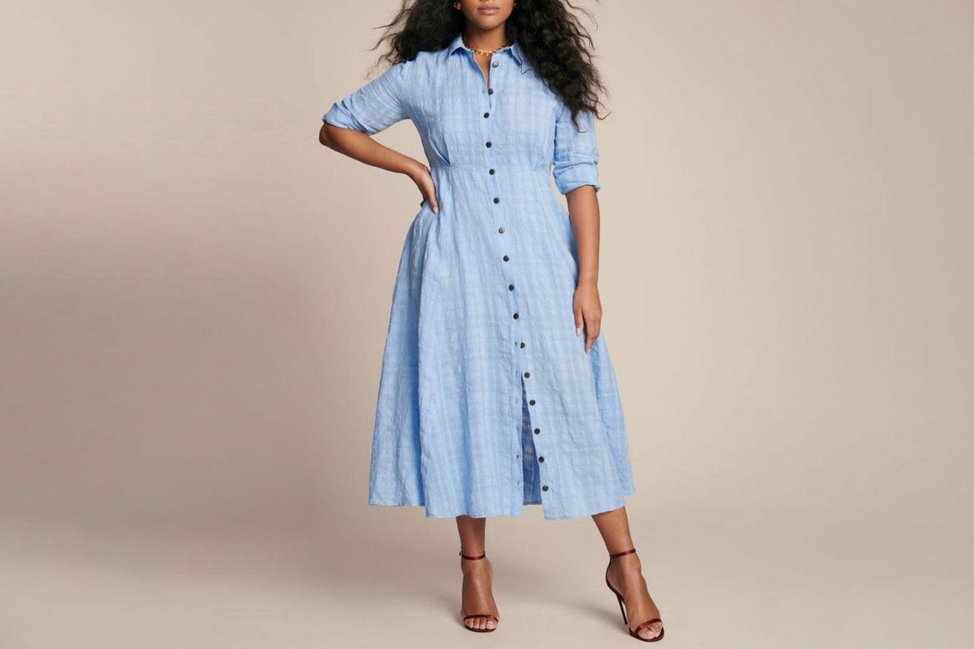 Mara Hoffman Blue Michelle Dress