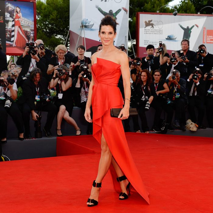 Sandra Bullock Played Red-Carpet Camouflage