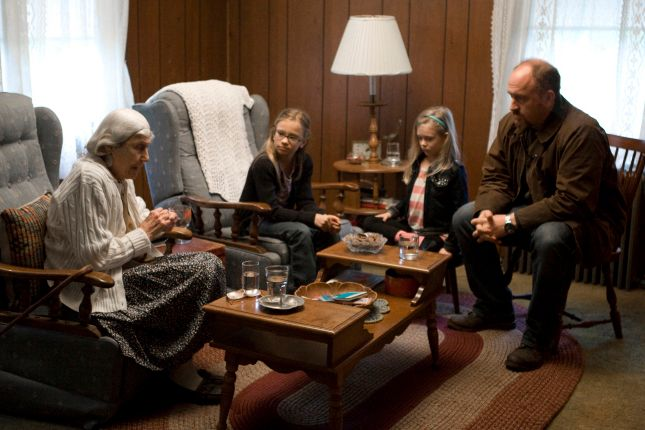 LOUIE: L-R: Eunice Anderson, Ursula Parker, Hadley Delaney and Louis C. K. in the LOUIE episode COUNTRY DRIVE airing Thursday, July 21 (10:00PM ET) on FX. CR: FX