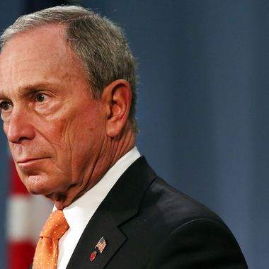 NEW YORK, NY - APRIL 25:  New York City Mayor Michael Bloomberg speaks at a news conference at City Hall where they announced that the two men accused of carrying out last week's bombing of the Boston Marathon planned an additional bomb attack on New York's Times Square on April 25, 2013 in New York City. In interrogations with younger brother Dzhokhar Tsarnaev, police have learned that the two had planned to take the car that they hijacked and its driver from Boston last Thursday night and to New York with bombs.  The plan was foiled after the car ran low on gas and the two brothers got into a firefight with police.  (Photo by Spencer Platt/Getty Images)