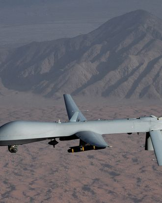 29 Nov 2008 --- Air Force officials are seeking volunteers for future training classes to produce operators of the MQ-1 Predator unmanned aircraft. (U.S. Air Force photo/Lt Col Leslie Pratt) --- Image by ? US Air Force/ Handout/Corbis