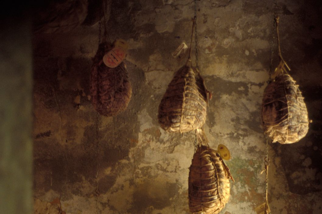 The world famous ham, Culatello di Zibello, also known as the king of hams, is made by only 12 producers in Parma Italy.