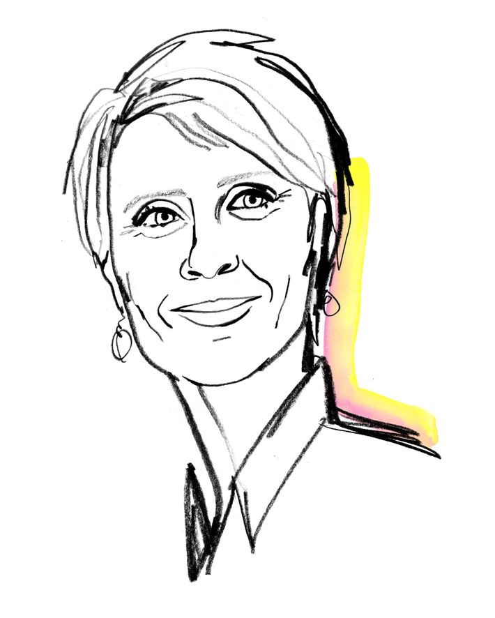 Drawing of Cynthia Nixon.