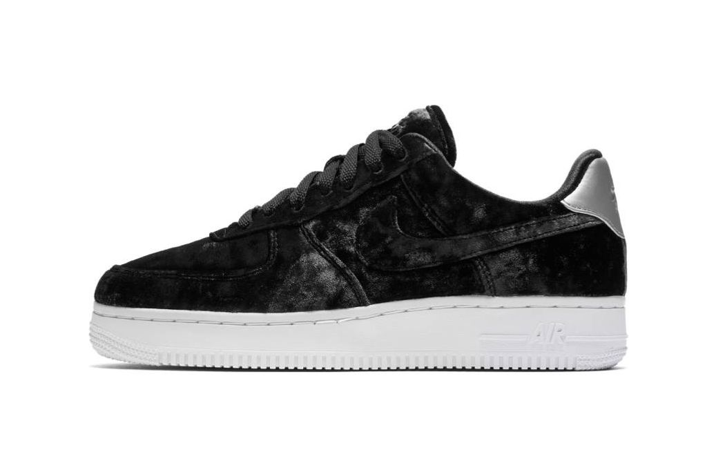 Nike Air Force 1 Crushed-velvet Sneakers