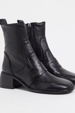 ASOS DESIGN Almond Premium Leather Boots