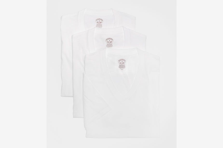 Brooks Brothers Supima Cotton V-Neck Undershirt Three Pack