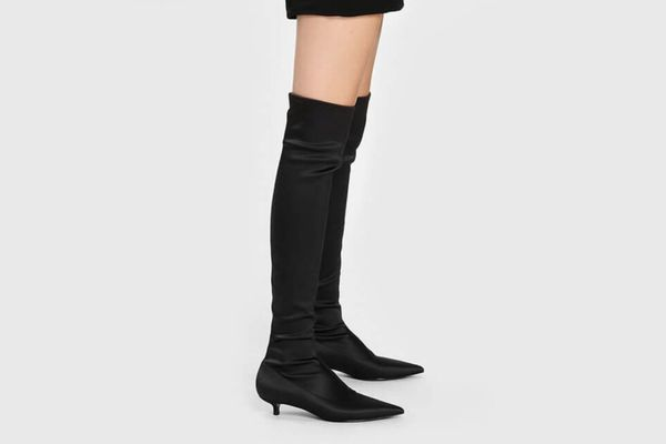 Pointed Thigh High Boots