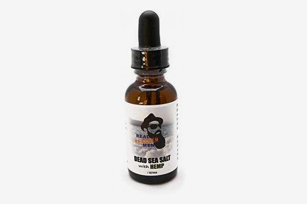 Real Bearded Men 100% Natural Premium Beard Oil 1 oz - Dead Sea Salt with Hemp