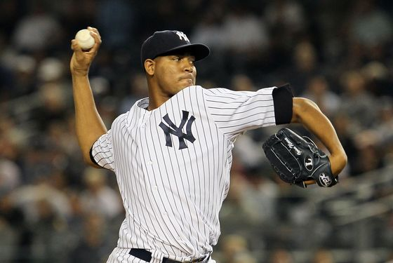 NEW YORK, NY - SEPTEMBER 20:  Ivan Nova #47 of the New York Yankees pitches against the Tampa Bay Rays on September 20, 2011 at Yankee Stadium in the Bronx borough of New York City.  (Photo by Jim McIsaac/Getty Images)