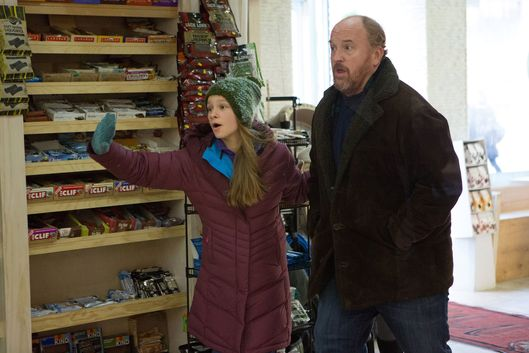 "LOUIE: Season 5, Episode 2 ""A La Carte"" (Airs Thursday, April 16, 10:30 pm e/p). Pictured: (l-r) Hadley Delany as Lilly, Louis C.K. as Louie. CR: KC Bailey/FX"