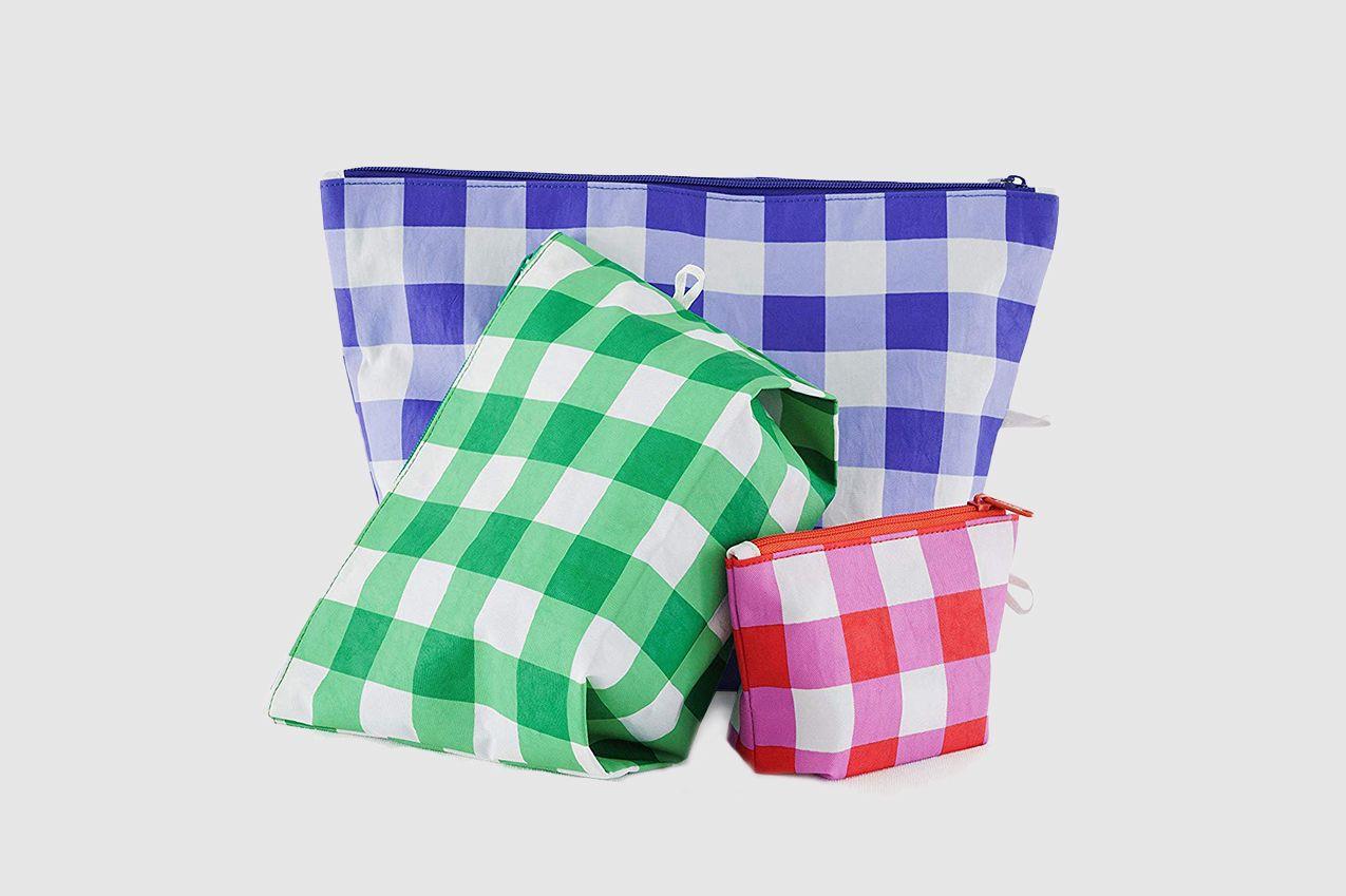 BAGGU Go Pouch Set, Expandable Nylon Zip 3 Pack