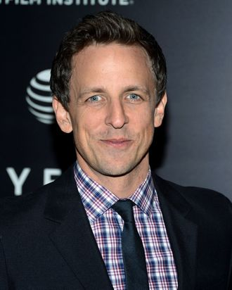 Seth Meyers attends the Tribeca Film Institute Benefit Screening Of