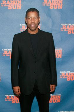 "Denzel Washington== Opening Night Curtain Call and After Party for ""A Raisin in the Sun""== Tribeca Rooftop, 2 Desbrosses Street, NYC.== April 03, 2014== ©Patrick Mcmullan== photo-Sylvain Gaboury/PatrickMcmullan.com== =="