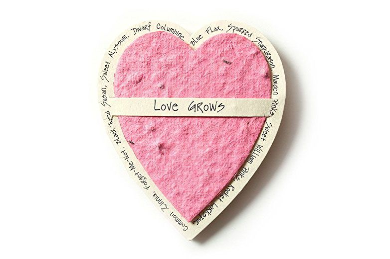 Bloomin Mini Pink Heart-Shaped Seed Card
