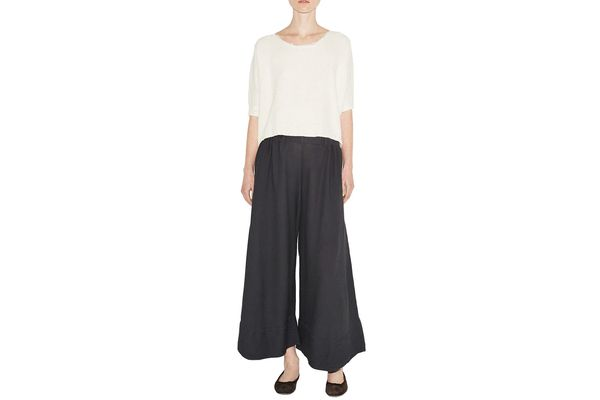 Black Crane Crinkle Pants