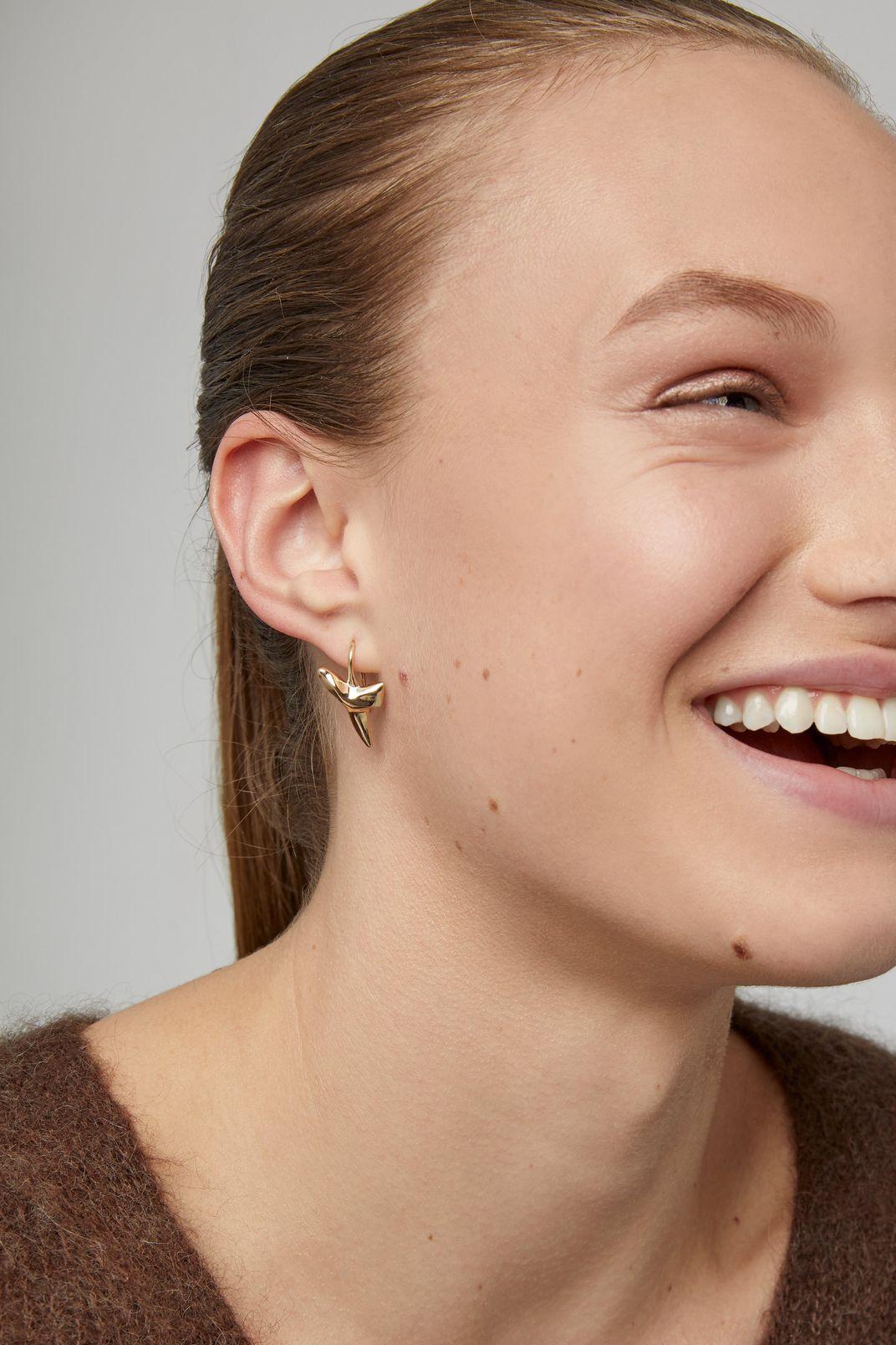 Fallon Gold-Plated Sharktooth Earrings