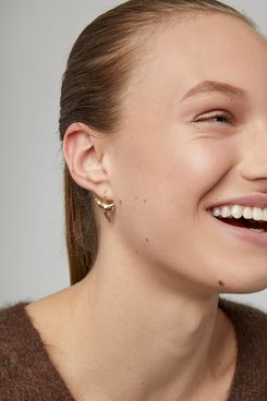 Fallon Gold-Plated Sharktooth Earrings
