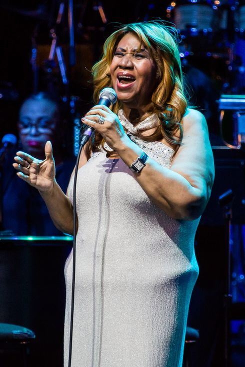 Aretha Franklin performs in concert at MotorCity Casino's Sound Board Theater on December 21, 2013 in Detroit, Michigan.