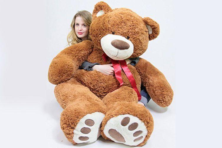 Big Plush - Teddy Bear with Bigfoot Paws, 5 Feet Tall, Brown