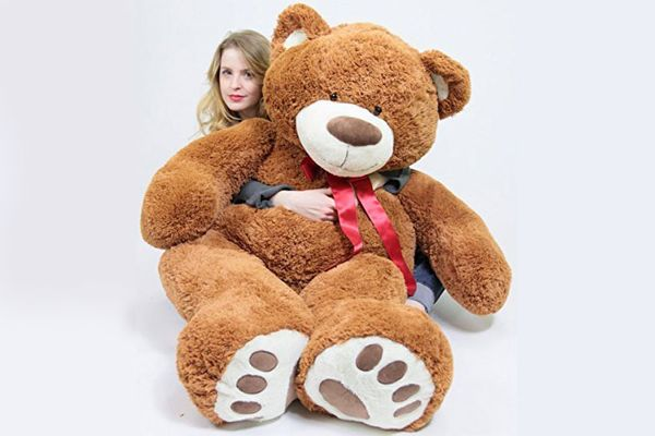 Big Plush - Teddy Bear with Bigfoot Paws, 5 Feet Tall, Brown