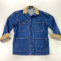 Vintage 80s Polo Ralph Lauren Denim Jean Chore Work Jacket