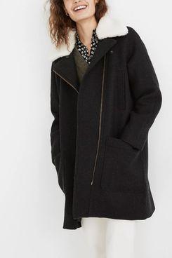 Madewell Eldridge Zip Coat in Insuluxe Fabric