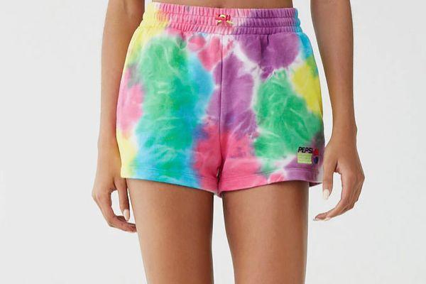 Forever 21 Pepsi Tie-Dye Shorts