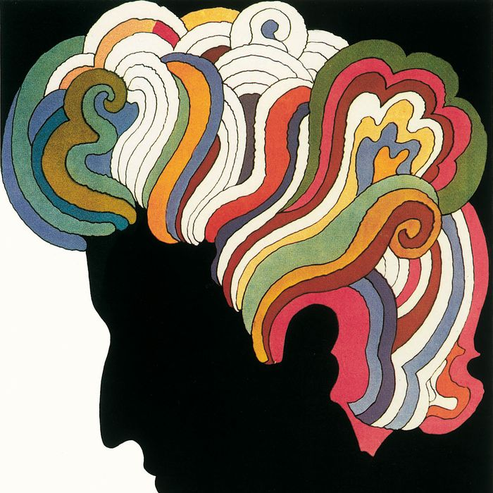 UNSPECIFIED - CIRCA 1970: Photo of Bob Dylan post by designer Milton Glaser.