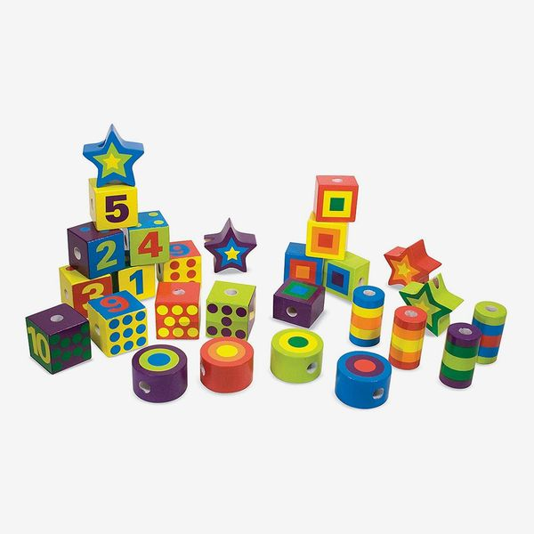 Melissa and Doug Wooden Lacing Beads