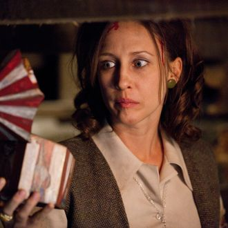 "VERA FARMIGA as Lorraine Warren in New Line Cinema's supernatural thriller ""THE CONJURING,"" a Warner Bros. Pictures release."