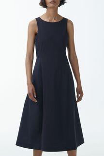 Cos Sleeveless Cotton Midi Dress