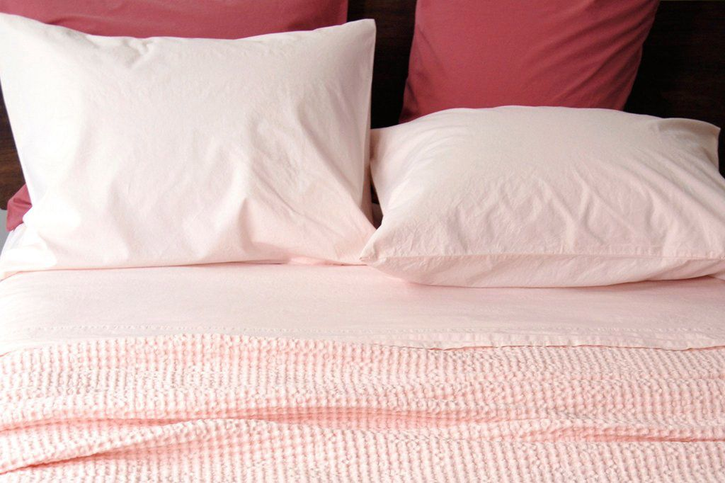 Anton Fitted Sheet in Pink