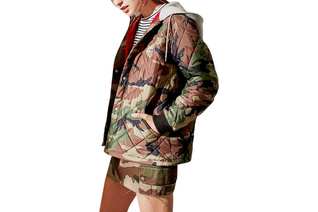 MadeMe/X-girl Quilted Camo Work Jacket