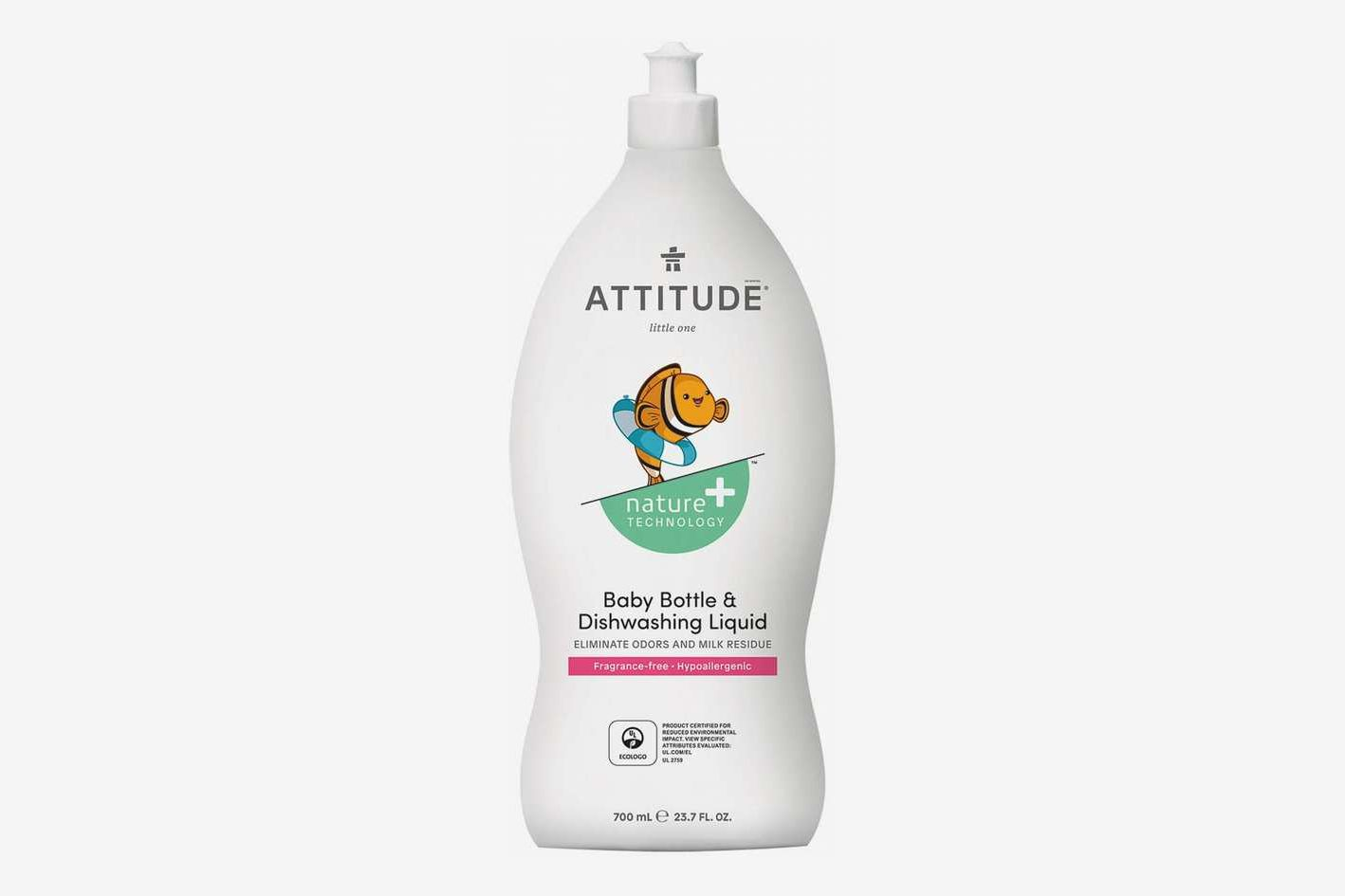 ATTITUDE Nature + Hypoallergenic Baby Bottle and Dishwashing Liquid