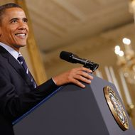 WASHINGTON, DC - JUNE 21:  U.S. President Barack Obama urges Congress to pass legislation that would keep federal student loan rates from doubling during an event in the East Room of the White House June 21, 2012 in Washington, DC. Education Secretary Arne Duncan said that if Congress doesn't act, subsidized student loan debt would double to 6.8 percent on July 1, affecting nearly 7.4 million people who currently hold loans like Pell Grants and Stafford loans.  (Photo by Chip Somodevilla/Getty Images)