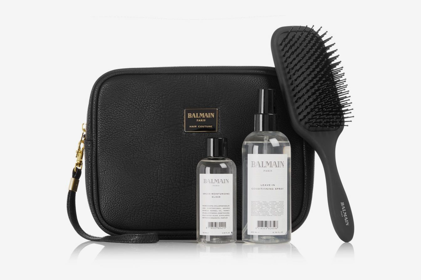 BALMAIN PARIS HAIR COUTURE Leather Cosmetics Case Gift Set