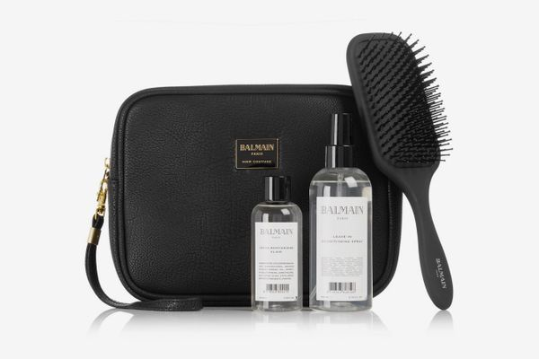 BALMAIN PARIS HAIR COUTURE Leather Cosmetics Case Gift Set