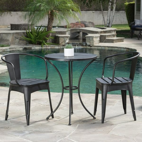 Biles 3 Piece Bistro Set