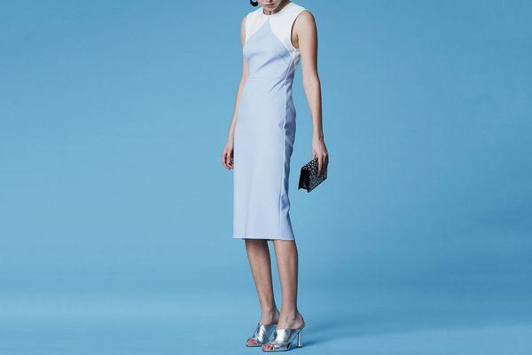 Diane von Furstenberg Color Block Sheath Dress